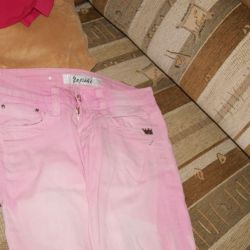 Summer pink jeans