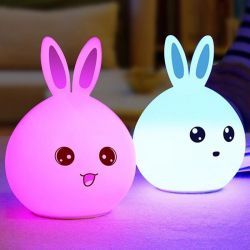 Soft Silicone Night Light Bunny New