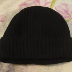 Новая черная мужская шапка