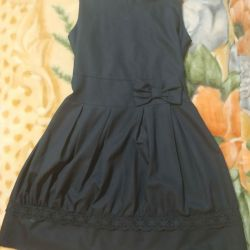 Sundress dark blue school 150/146 in good condition