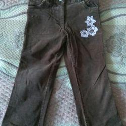 Corduroy pantaloni suedezi, blugi