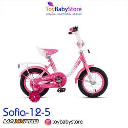 Bicycle Maxxpro Sofia-12-5 white-pink new