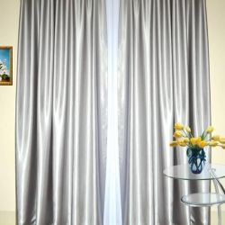 Shannon Curtain Set Silver
