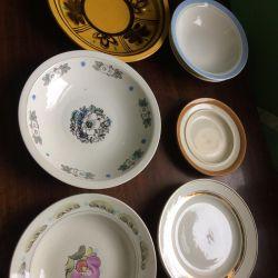 Ancient plates zik. Sugar bowl. Konakovo