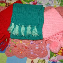 Openwork scarf, for girl, for boy NEW