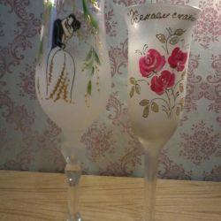 Wine glasses 2pcs, 50rub