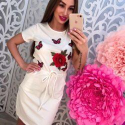 Платья D&G новые пудра,белые,чeрные