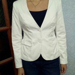 Jacket white, L
