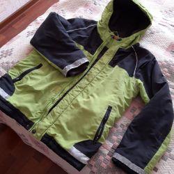 Jacket on the fleece.