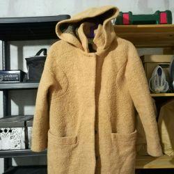 Coat zara beige color s