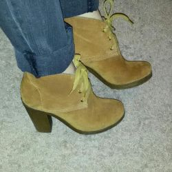 Winter boots, natures. suede. Bargain