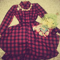 Stylish dress with asymmetrical skirt