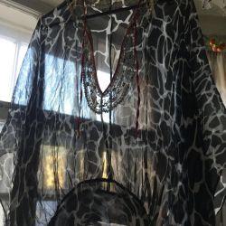 Cape, blouse - new