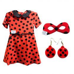 Lady Bug Φόρεμα (Κλασική 3 σε 1 σύνολο)