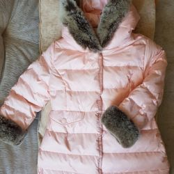 The jacket is downy! Tizzas 4 T in good condition