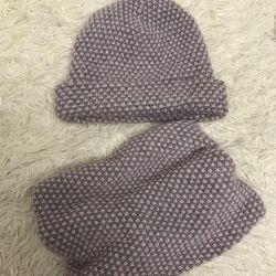 Pălărie și eșarfă Waleta
