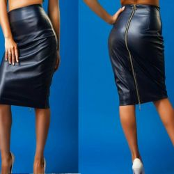 Skirt - pencil eco-leather new