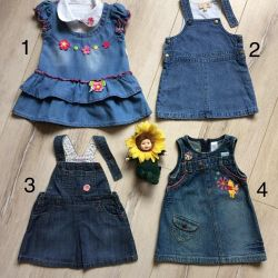Denim sundresses and dress