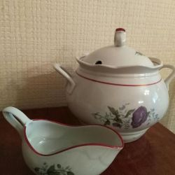 The tureen, saucepan, milkman new.
