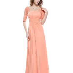 New peach dress with lace - 54/56 and 48/50