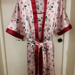 Set (bathrobe and chemise)