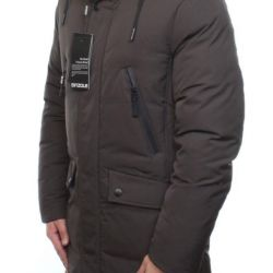 New long down jacket (70% down, 30% feather) river 48/50