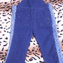 Denim overalls for children 1-1.5 years