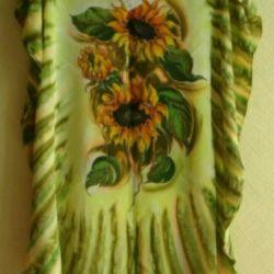 Silk dress tunic river 46-52