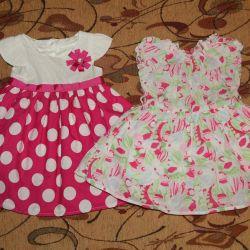 Фирменные нарядные платья р.74-80