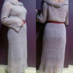 Πλεκτό φόρεμα από το παιδί mohair ALIZE.