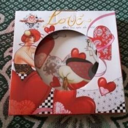 Plate love heart porcelain for a gift