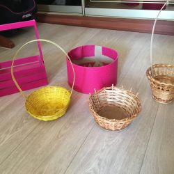 Basket for flowers (hand-made)