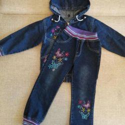 çocuk kot takım elbise