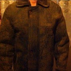 SALE Sheepskin coat natural