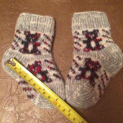 New woolen socks for newborns