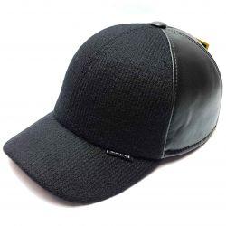 Șapcă de baseball din piele naturală Starkoff (combi)