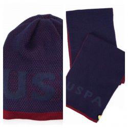 Новые шапка+шарф (комплект) US Polo Assn