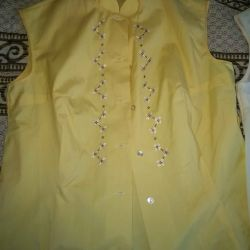 Blouses new cotton yellow and white p. 46 and 48