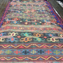 Восточный ковер килим ручной работы. Винтаж.Шерсть