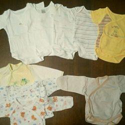 Vücut, fanilalar (0-3 ay)