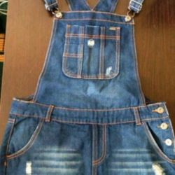 Cropp denim overalls