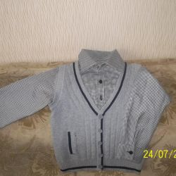 The shirt sewn into the jumper