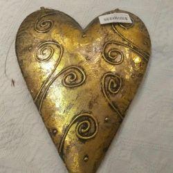 Сердце декоративное металлическое подвесное