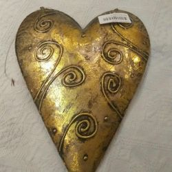 Pandantiv metalic decorativ din inima