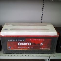 Аккумулятор EUROPLUS 190AH 1300A новый