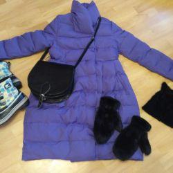 фіолетове пальто