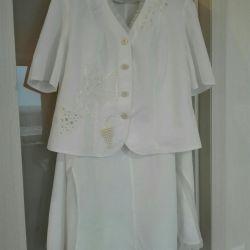 Elegant suit 100% cotton 54-56 size