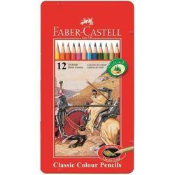 Χρωματιστά μολύβια Faber-Castell 12 col (Met)