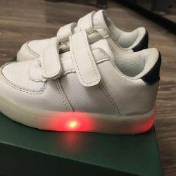 Glowing sneakers!