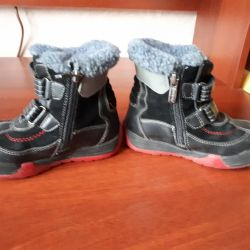 Winter boots for the boy are on sale